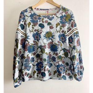 Dolan/ Anthropologie Floral Metallic Sweatshirt